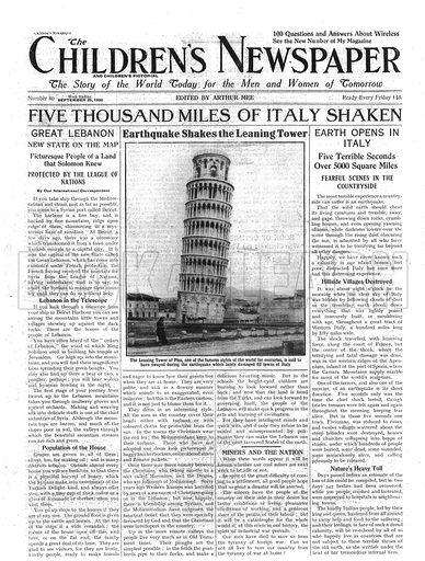 Earthquake shakes the tower of Pisa