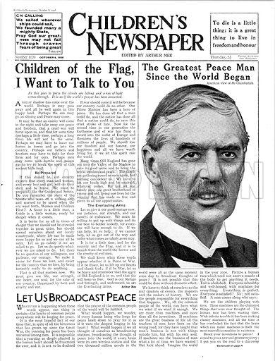Neville Chamberlain, the greatest peace man since the world began