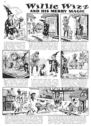 Willie Wizz. Comic strip from Harold Hare's Own Paper, 14 November 1959.