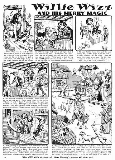 Willie Wizz. Comic strip from Harold Hare's Own Paper, 21 November 1959.