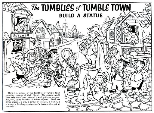 The Tumblies of Tumble Town Build a Statue, from Harold Hare's Own Paper, 23 April 1960.