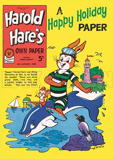 Harold Hare. Cover from Harold Hare's Own Paper, 6 August 1960.
