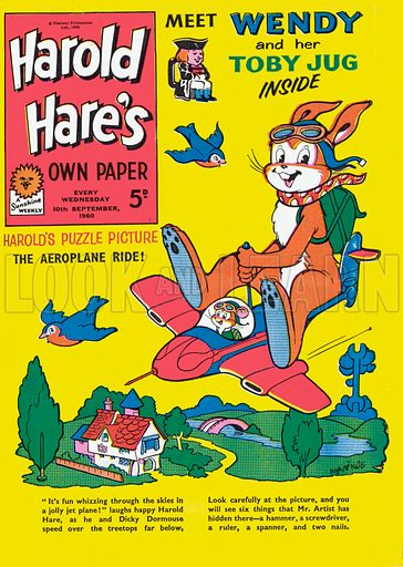 Harold Hare. Cover from Harold Hare's Own Paper, 10 September 1960.