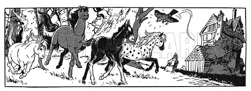 The Little Horses. Panel from comic strip from Harold Hare's Own Paper, 8 September 1962.