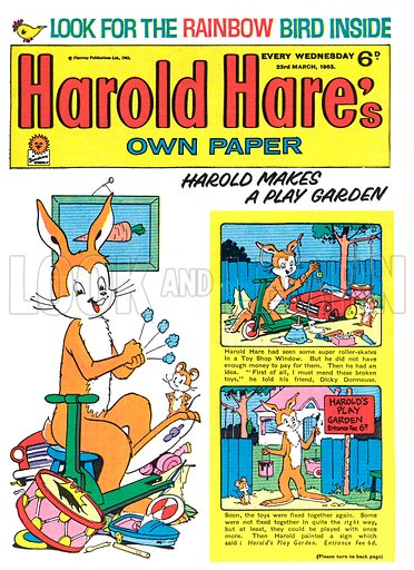 Harold Hare.  Cover.