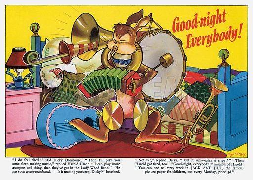 Harold Hare: Good-night, Everybody! From Jack and Jill Harold Hare Book 1960.