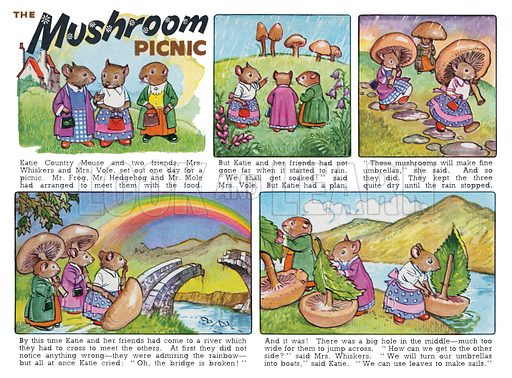 The Mushroom Picnic. Comic strip from Harold Hare's Own Book 1963.