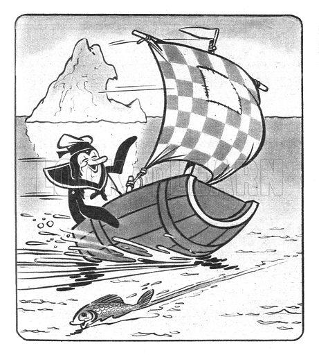 Flipper the Skipper. Comic strip from Jack and Jill, 27 February 1954.