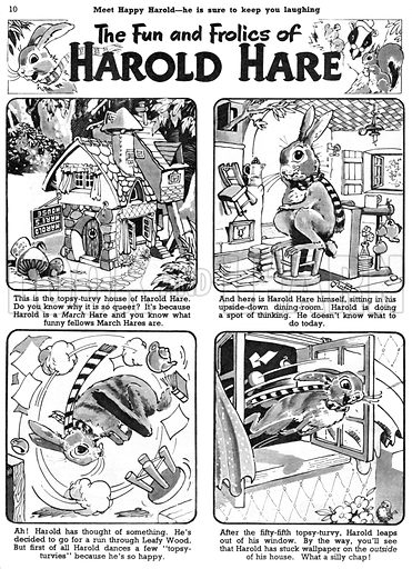 Harold Hare. Comic strip from Jack and Jill, 27 February 1954.
