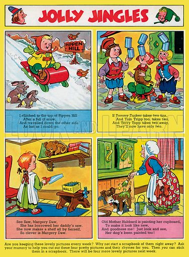 Jolly Jingles. Comic rhymes from Jack and Jill, 13 March 1954.
