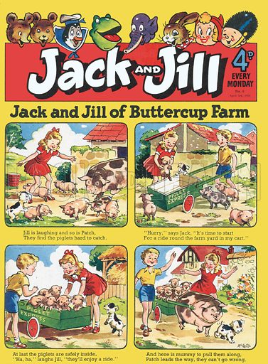 Jack and Jill. Cover from Jack & Jill, 3 April 1954.