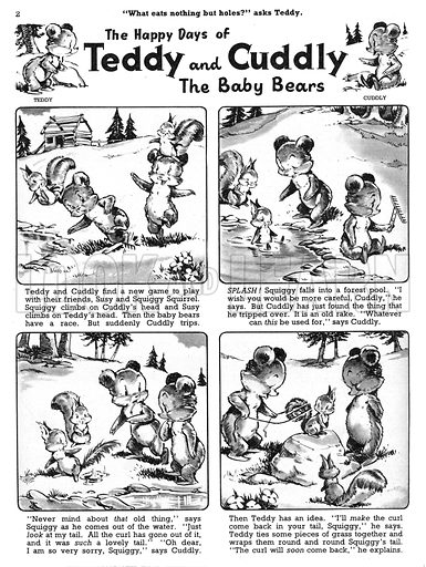 Teddy and Cuddly. Comic strip from Jack and Jill, 22 June 1957.