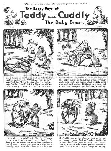Teddy and Cuddly. Comic strip from Jack and Jill, 7 September 1957.