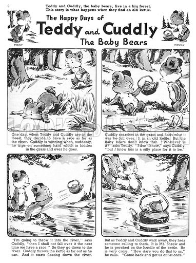 Teddy and Cuddly. Comic strip from Jack and Jill, 23 November 1957.