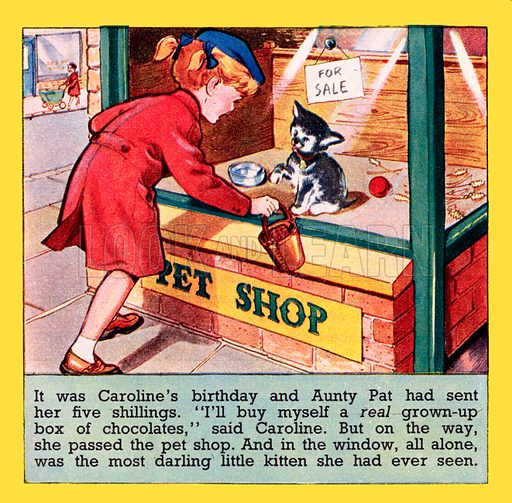 Tiny Tales. Comic strip from Jack and Jill, 16 August 1958.