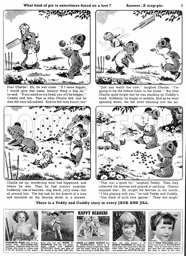 Teddy and Cuddly. Comic strip from Jack and Jill, 5 September 1959.