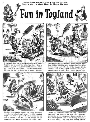 Fun in Toyland. Comic strip from Jack and Jill, 7 November 1959.