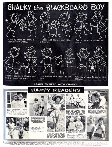 Chalky the Blackboard Boy. Comic strip from 6 January 1962.