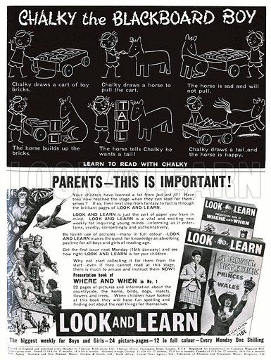 Chalky the Blackboard Boy. Comic strip from 13 January 1962.