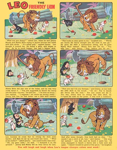 Leo the Friendly Lion. From Jack and Jill, 10 March 1962.