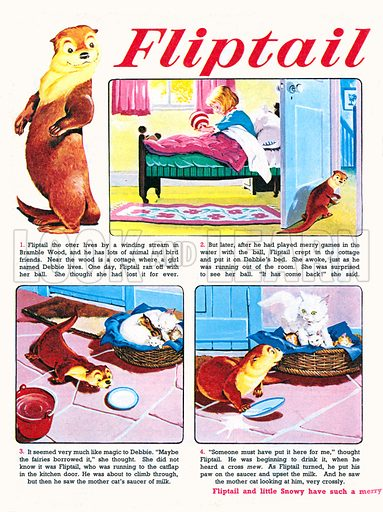 Fliptail the Otter. Comic strip from Jack and Jill, 22 April 1970.