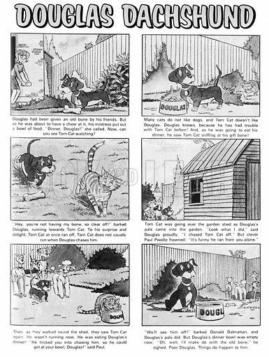Douglas Dachshund. Comic strip from Jack and Jill, 24 January 1970.