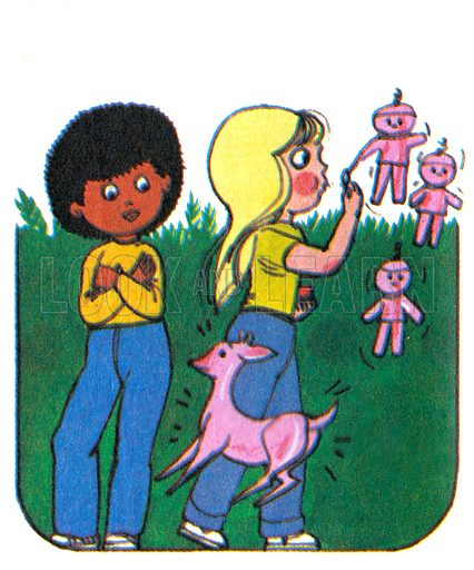 Linda and Her Magic Bubble Mix. Comic strip from Jack and Jill, 4 August 1979.