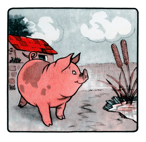 Peggy the Piglet. Comic strip from Jack and Jill Book 1955.