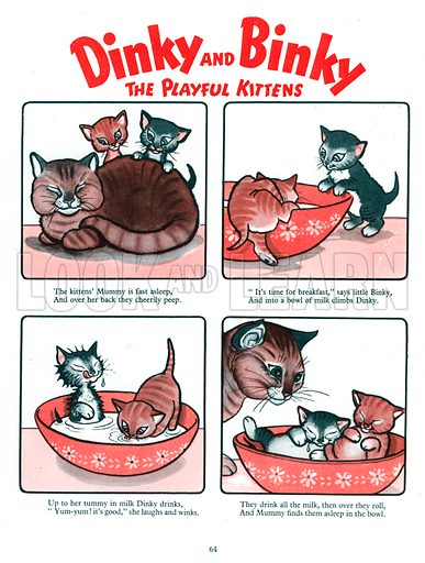Dinky and Binky. Comic strip from Jack and Jill Book 1955.