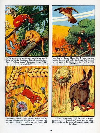 The Happy Harvest Mouse. From Jack and Jill Annual 1956.