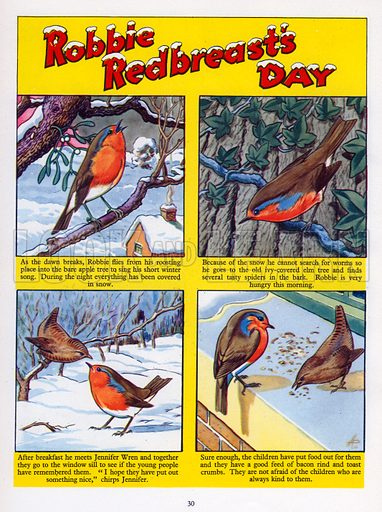 Robbie Redbreast's Day. From Jack and Jill Annual 1956.