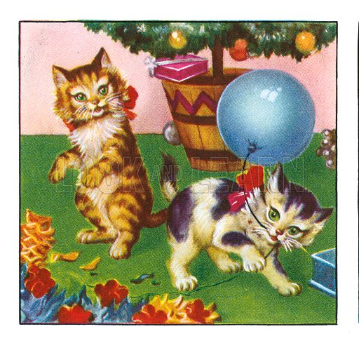 Flip and Fluff, the Playful Kittens. Comic strip from Jack and Jill Book 1957.
