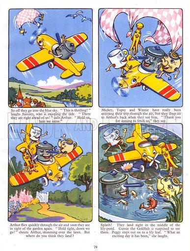 Winnie Peg's Great Adventure. Comic strip from Jack and Jill Book 1957.