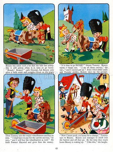 Fun in Toyland. Comic strip from Jack and Jill Annual 1958.