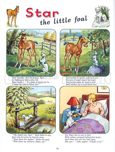 Star the Little Foal. Comic strip from Jack and Jill Annual Book 1958.