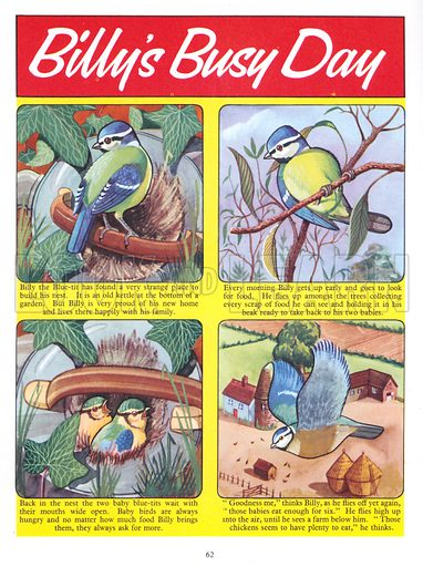 Billy's Busy Day. Comic strip from Jack and Jill Annual Book 1958.