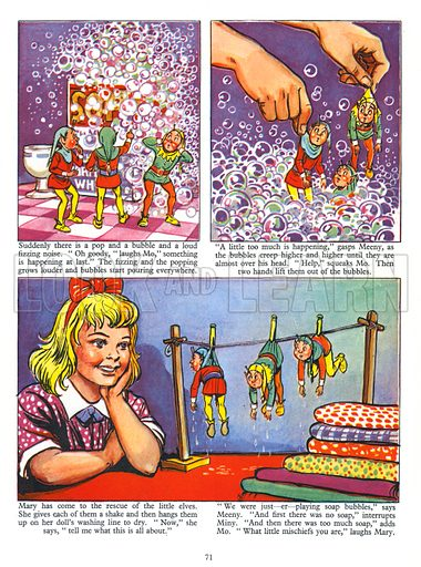 Mary and the Elves. Comic strip from Jack and Jill Annual Book 1958.