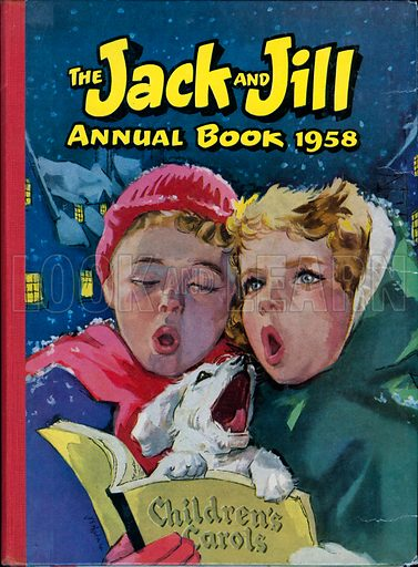 Carol Singers. Cover illustration from Jack and Jill Annual Book 1958.
