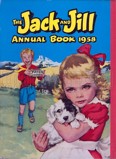 Jack and Jill. Rear cover illustration from Jack and Jill Annual Book 1958.