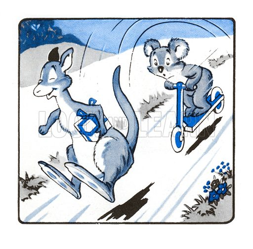 Jumpy the Kangaroo Jumps Too Far. Comic strip from Jack and Jill Annual Book 1959.