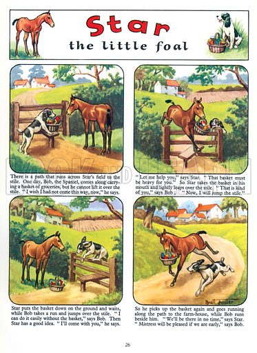 Star the Little Foal. Comic strip from Jack and Jill Annual Book 1959.