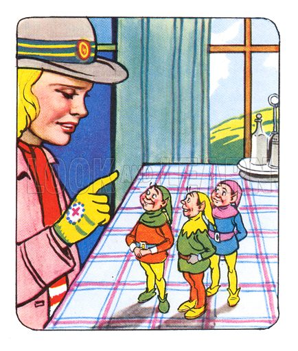 Mary and the Elves. Comic strip from Jack and Jill Annual Book 1959.