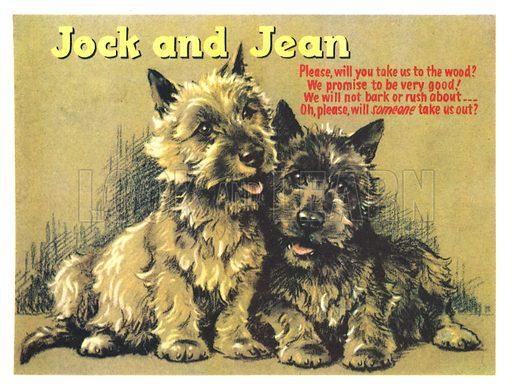 Jack and Jean. Illustration from Jack and Jill Annual Book 1960.