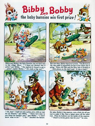 Bibby and Bobby. Comic strip from Jack and Jill Annual Book 1960.