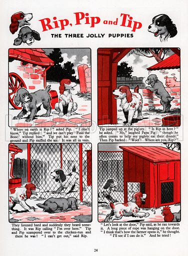 Rip, Tip and Pip. Comic strip from Jack and Jill Annual 1961.