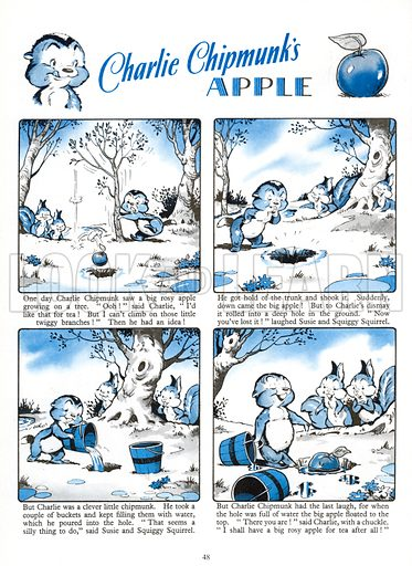 Charlie Chipmunk's Apple. Comic strip from Jack and Jill Annual 1961.