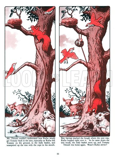 Little Red Squirrel. Comic strip from Jack and Jill Annual 1961.