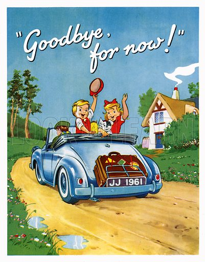 """Jack and Jill """"Goodbye, for now!"""" From Jack and Jill Annual 1961."""