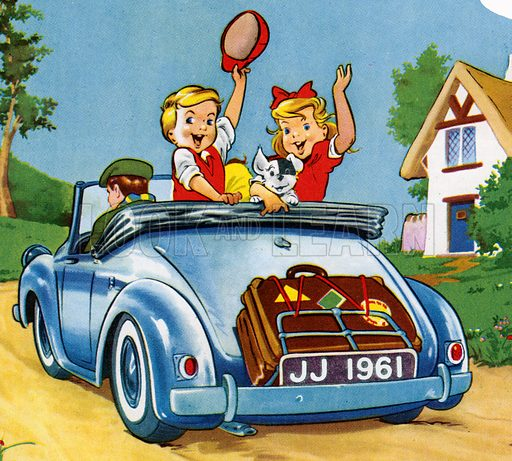 """Jack and Jill """"Goodbye, for now!"""" Detail from Jack and Jill Annual 1961"""