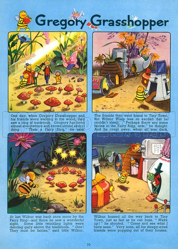 Gregory Grasshopper. Comic strip from Jack and Jill Annual 1962.